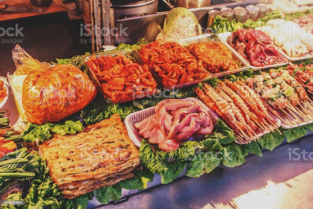 Street stall in Korea stock photo