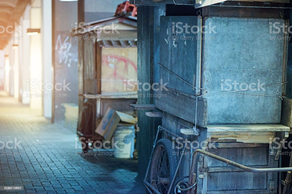 Street stall in Tokyo stock photo