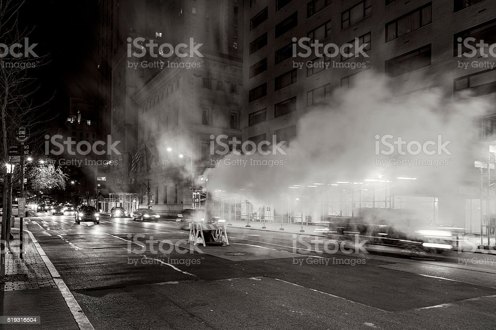 Street Steam - Predawn stock photo