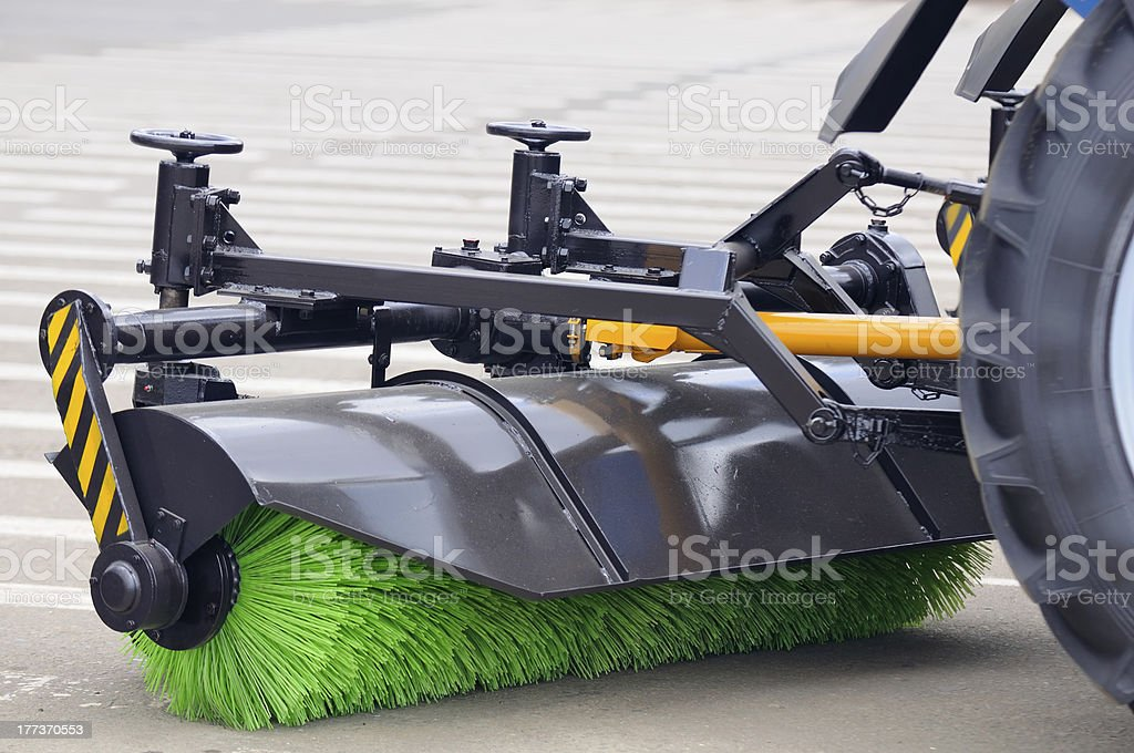 Street Sweeper Broom royalty-free stock photo