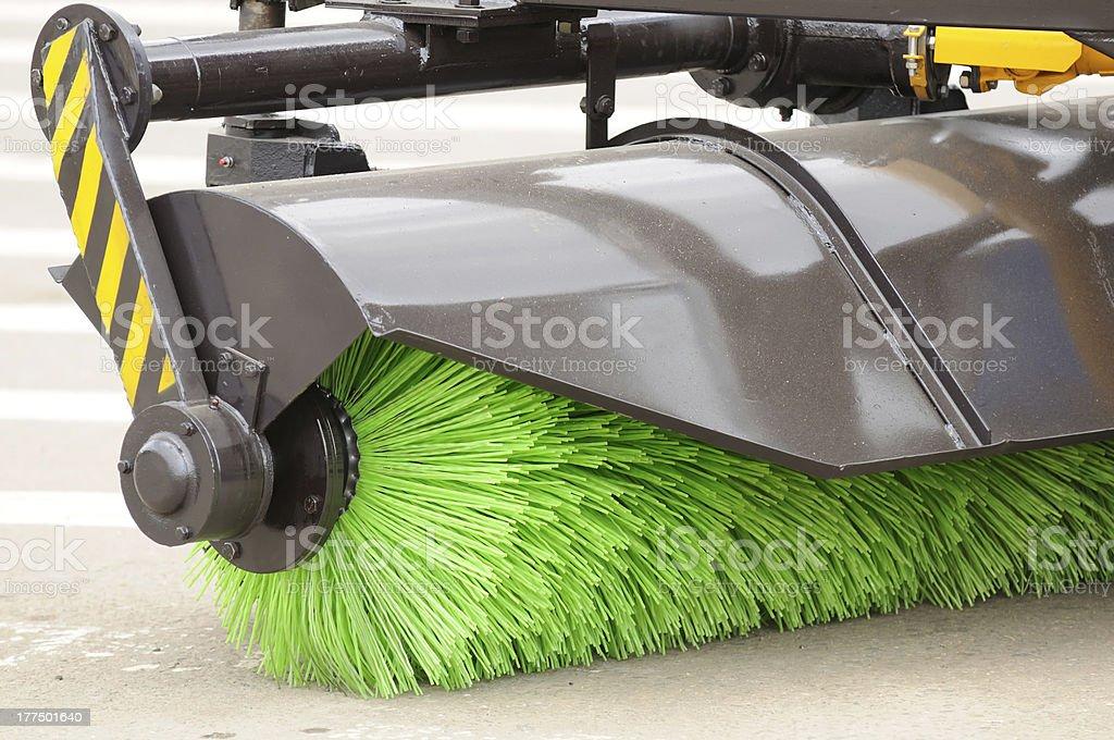 Street Sweeper Broom stock photo