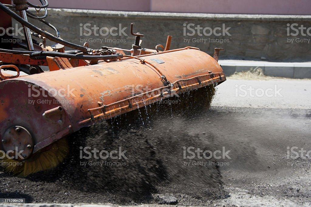 Street Sweeper Machine stock photo