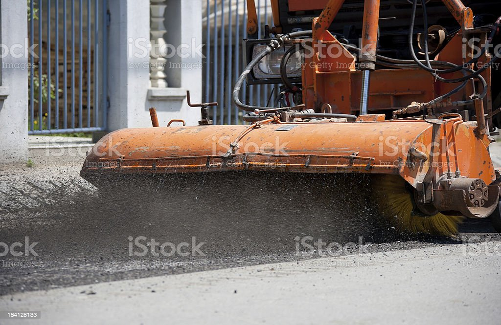 Street Sweeper Machine stock photo