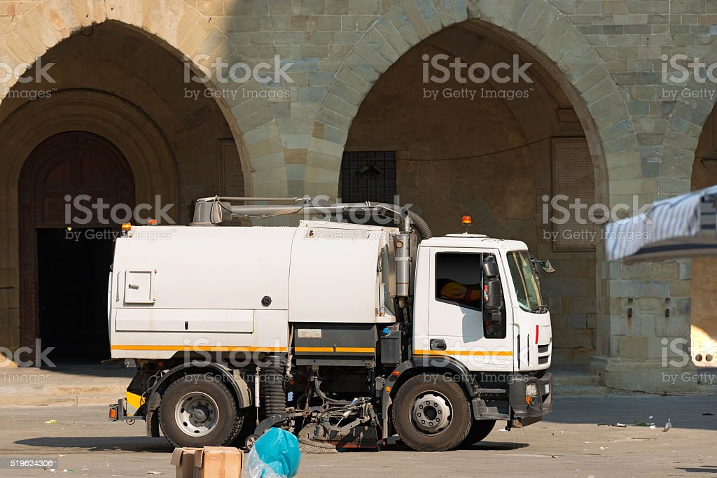 Street Sweeper Machine - Pistoia Italy stock photo