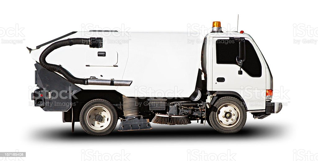 Street Sweeper (with clipping path) stock photo