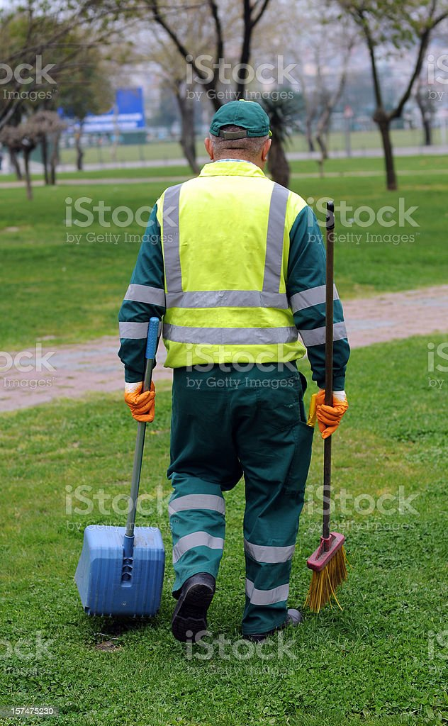Street Sweeper stock photo