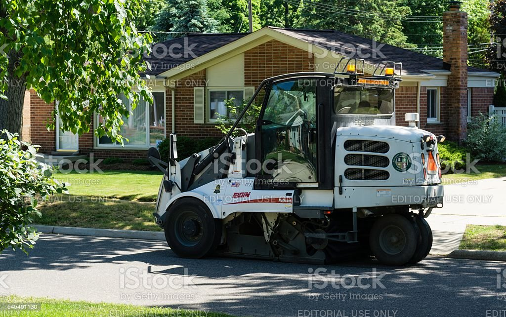 Street Sweeper, Rochester, Michigan stock photo