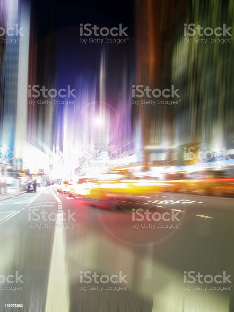 Street taxi life at Manhattan, NYC royalty-free stock photo