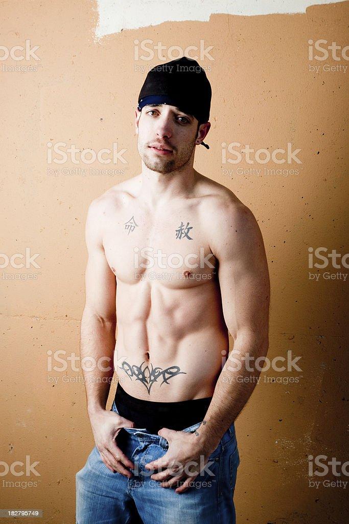 Street thug royalty-free stock photo