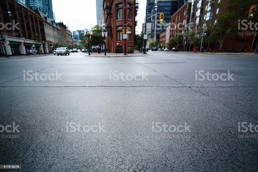 street toronto scene stock photo