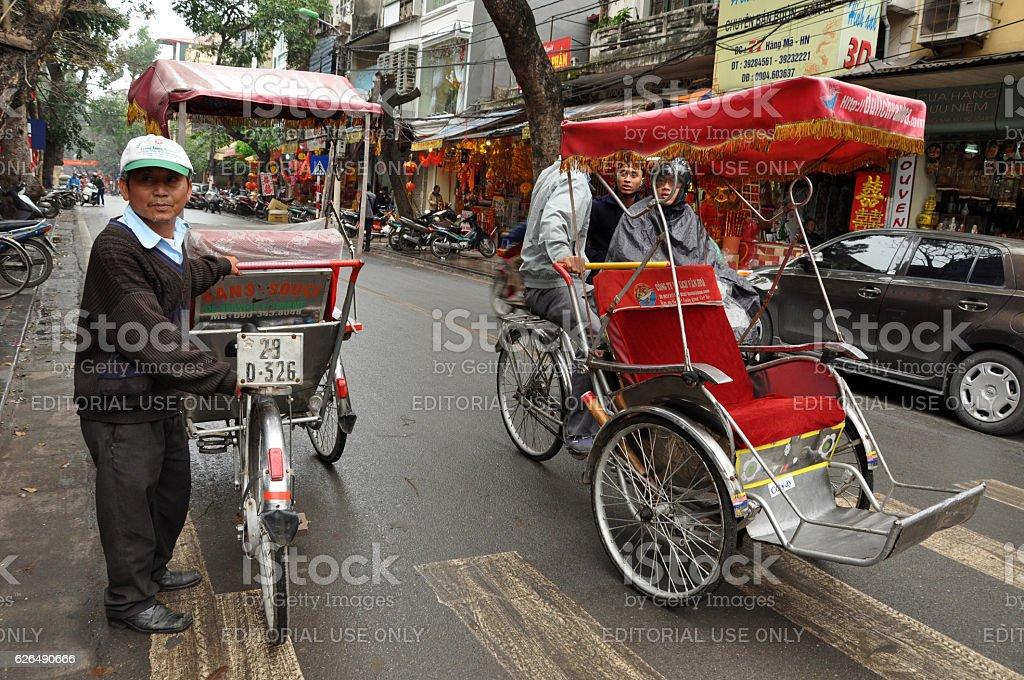 Street tuk tuk driver waiting for clients stock photo