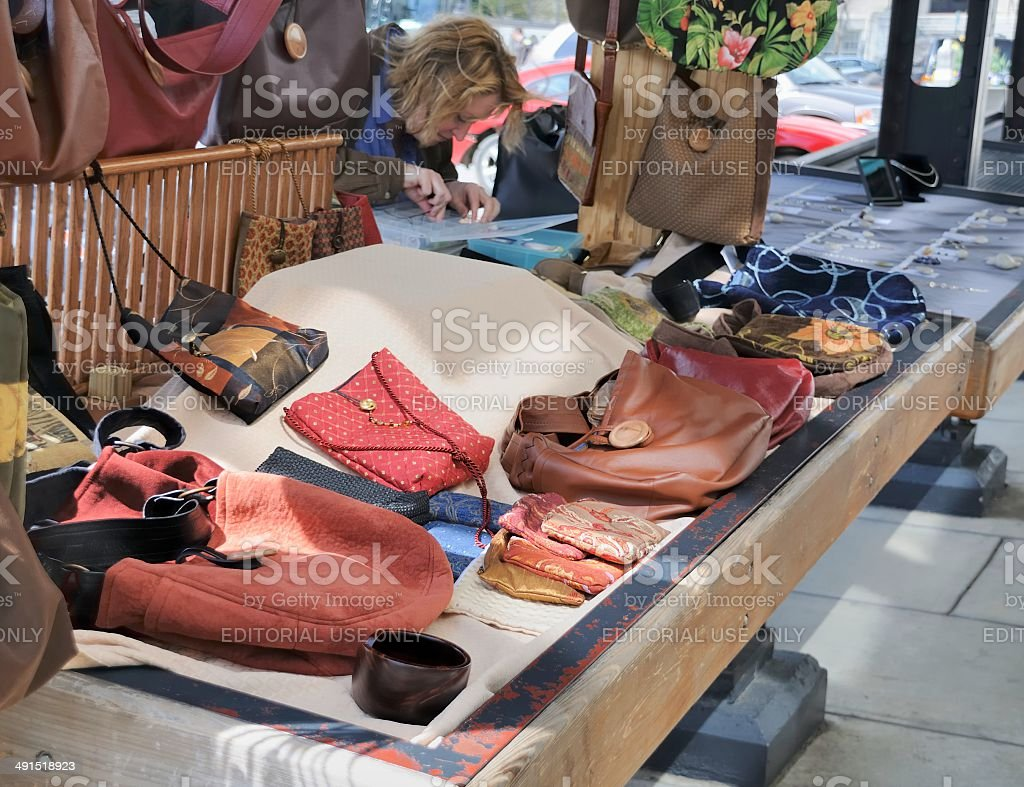 Street Vendor, Asheville, North Carolina stock photo