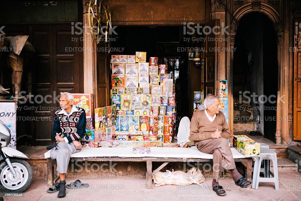Street vendor, Delhi royalty-free stock photo