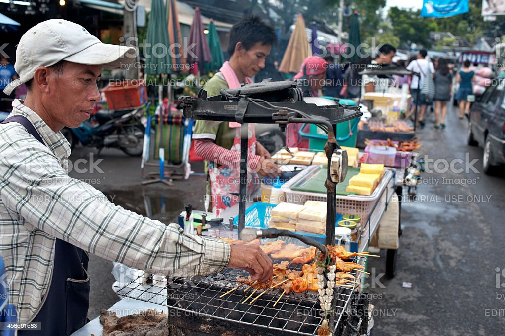 Street Vendor in Chatuchak Market royalty-free stock photo