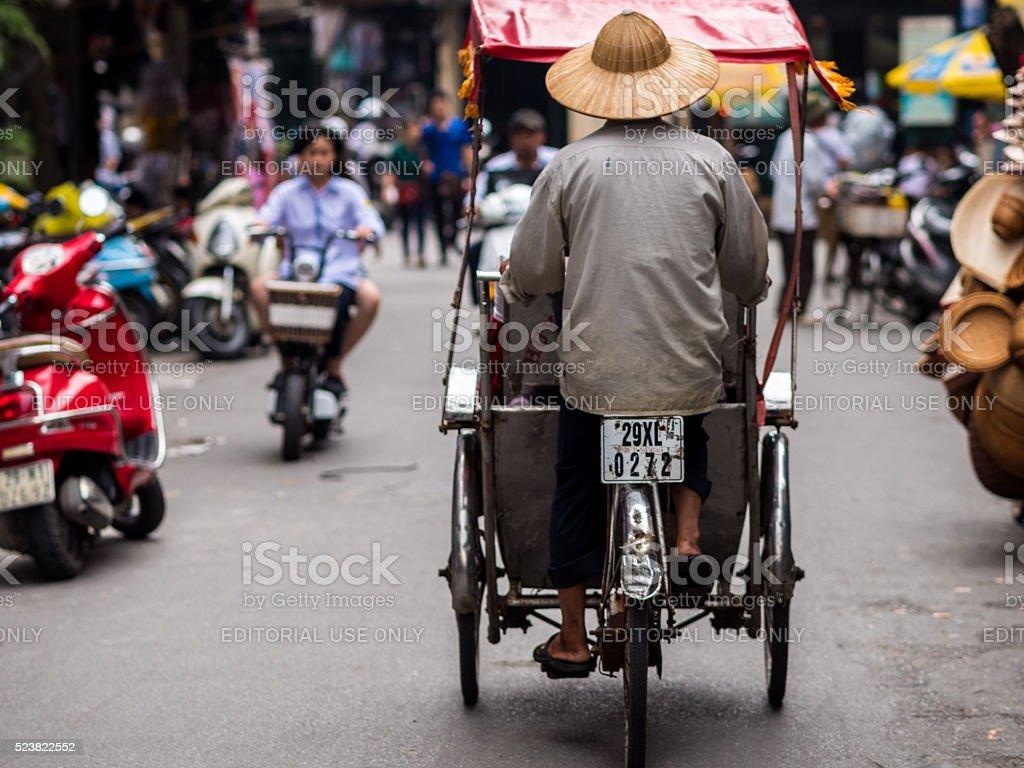 Street vendor in Hanoi, Vietnam stock photo