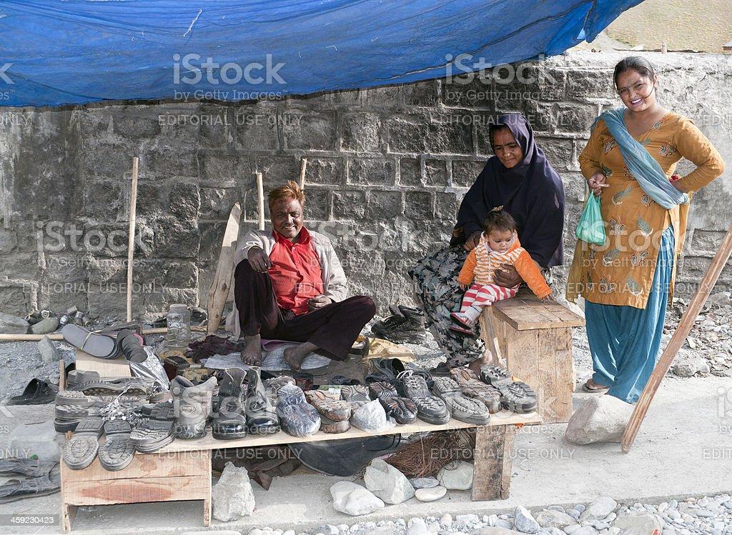 Street Vendor in Kargil Kashmir India royalty-free stock photo