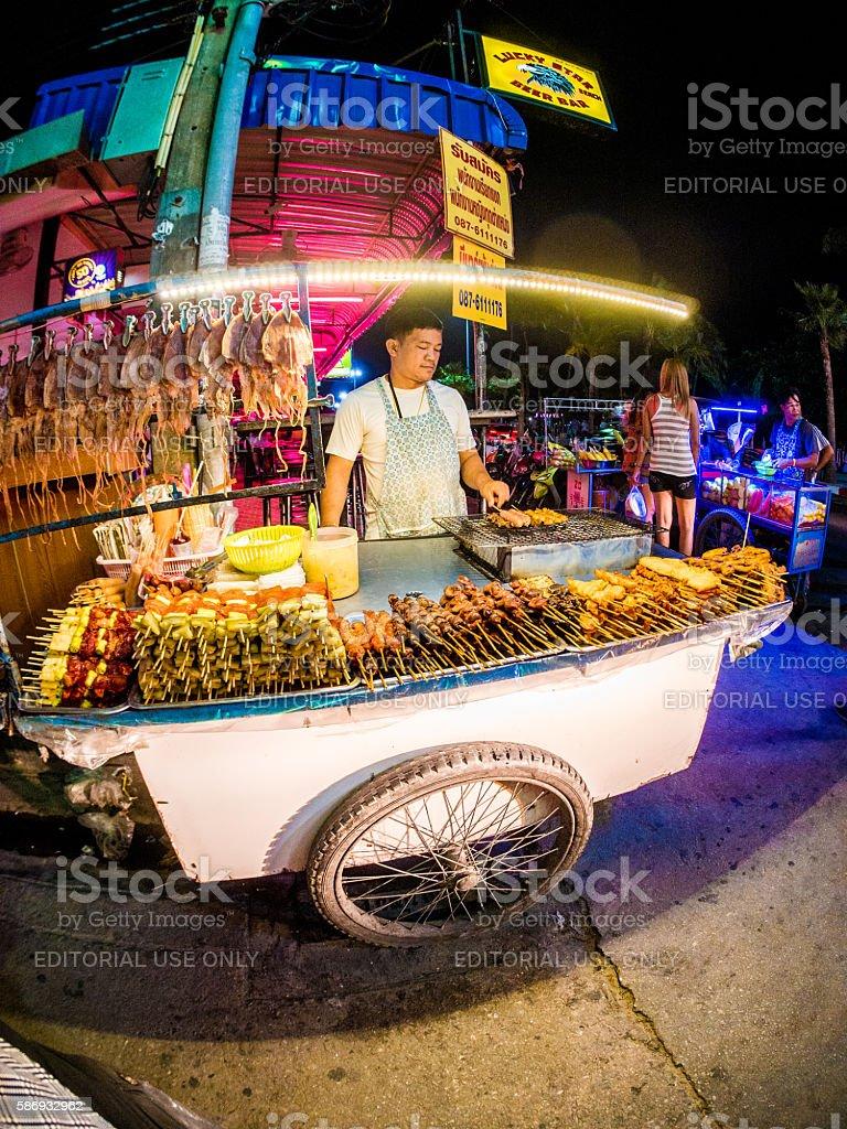 Street Vendor in Pattaya, Thailand stock photo