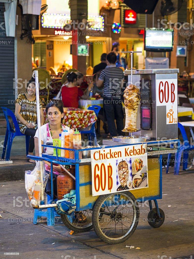 Street vendor, Khao San Road, Bangkok, Thailand royalty-free stock photo