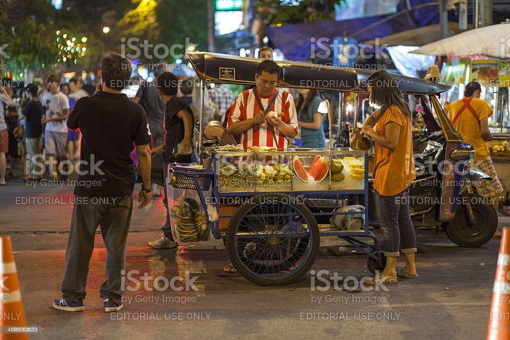Street vendor, Khao San Road, Bangkok, Thailand stock photo