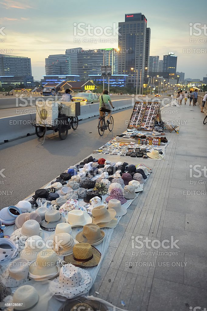 Street vendor royalty-free stock photo