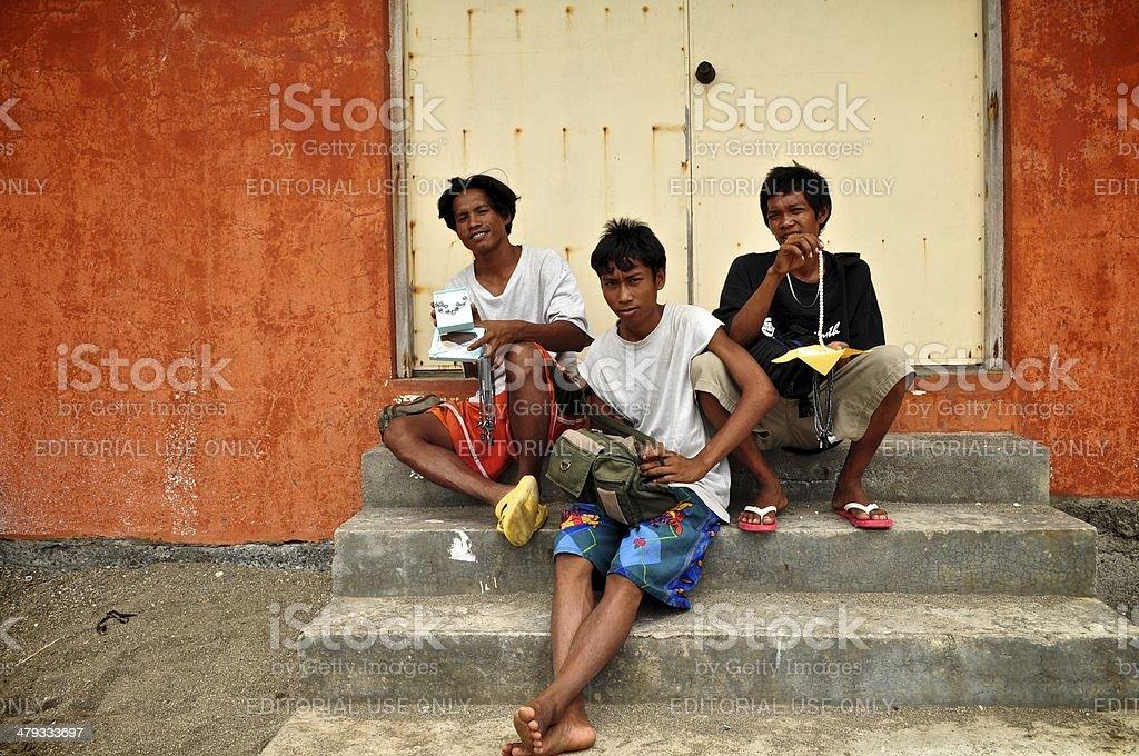 Street Vendors in the Philippines stock photo