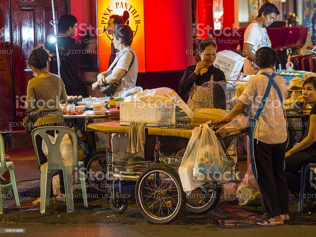 Street Vendors, Pat Pong nightmarket, bangkok royalty-free stock photo