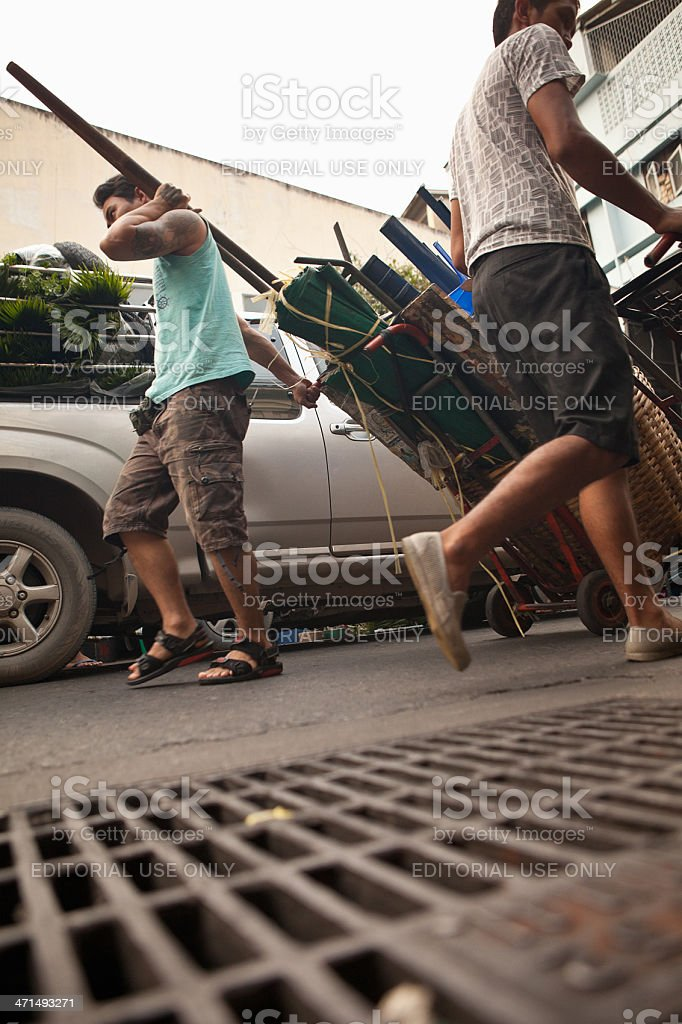 Street Vendors royalty-free stock photo