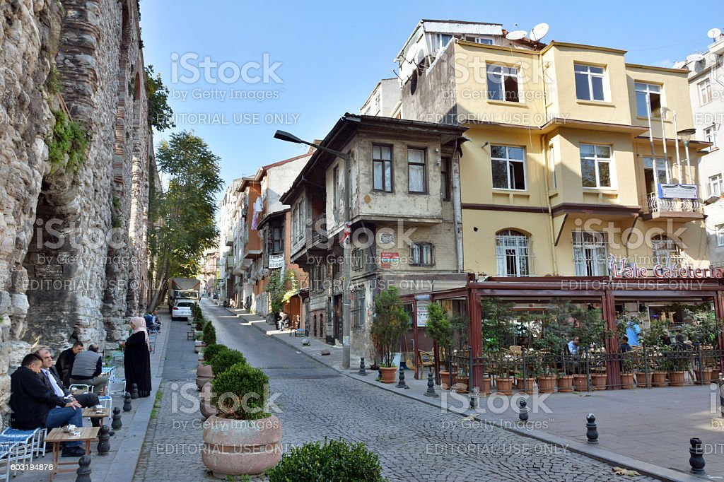 Street view in Istanbul. stock photo