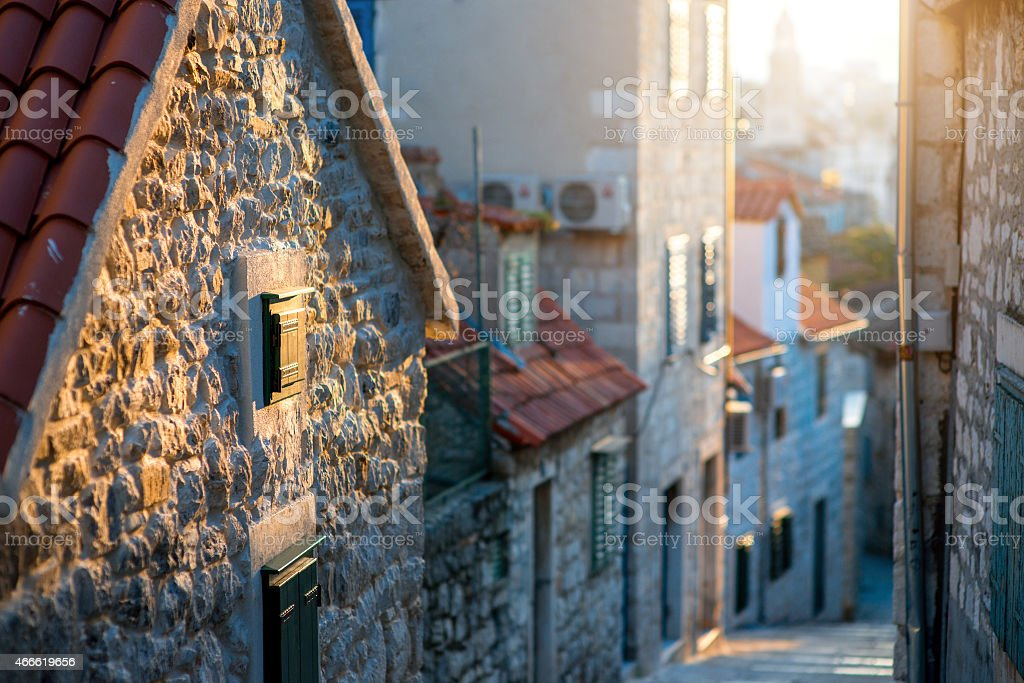 Street view in old city stock photo