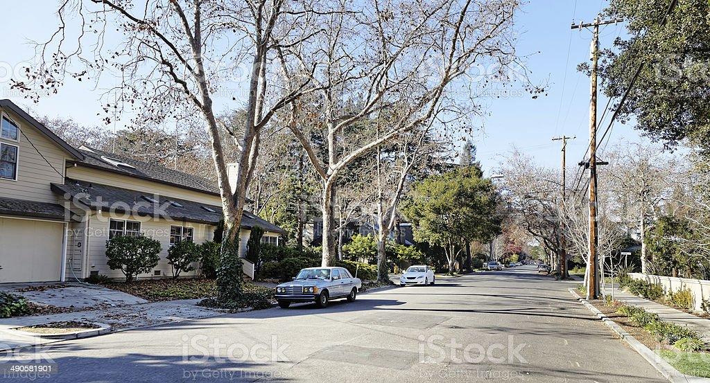 Street view in Palo Alto royalty-free stock photo