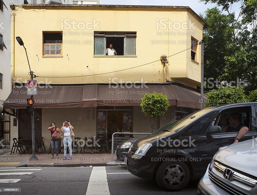 Street view in Sao Paulo, Brazil royalty-free stock photo