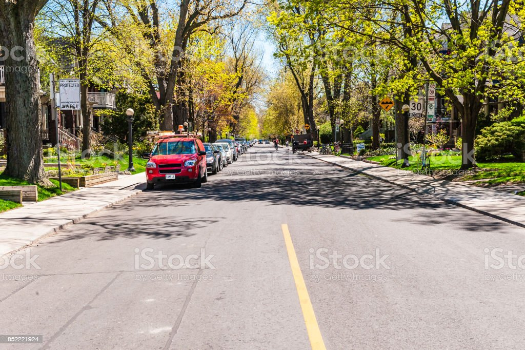 Street view in Toronto stock photo