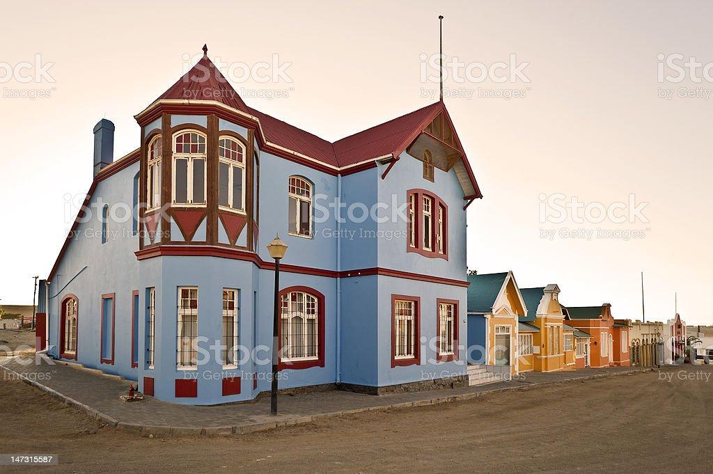 Street view, Lüderitz, Namibia, Africa stock photo