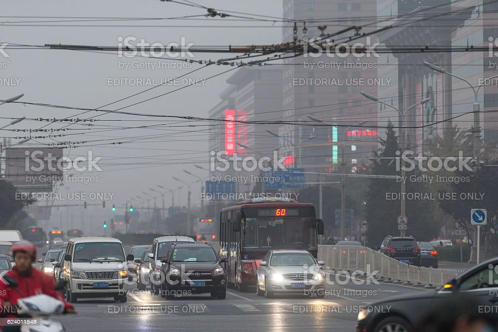 Street view of Beijing, China stock photo
