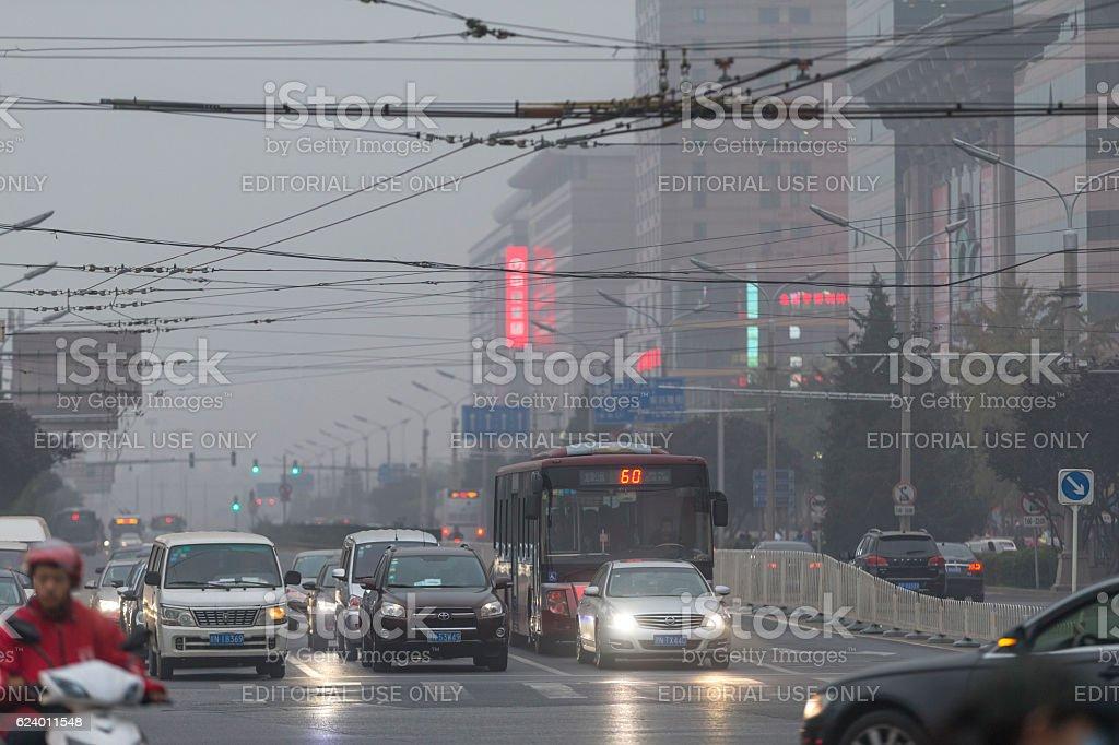 Street view of Beijing, China stock photo