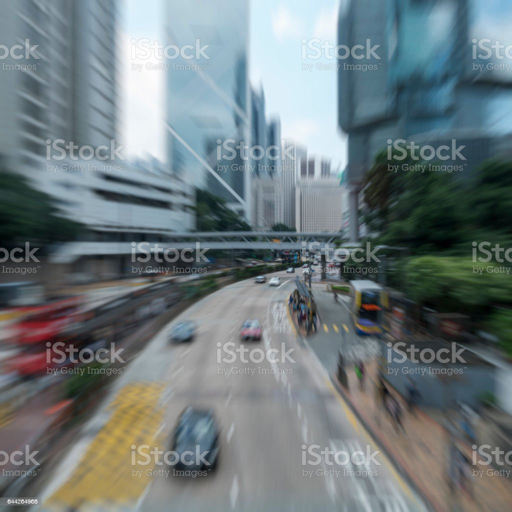 street view of Hong Kong stock photo