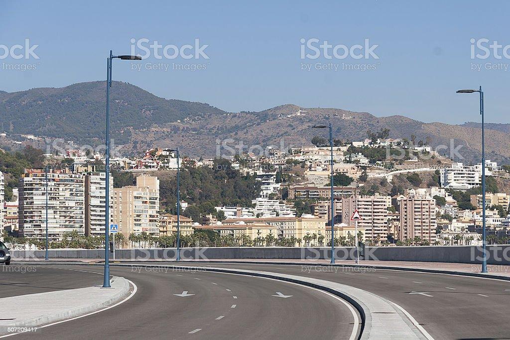 Street view of Malaga royalty-free stock photo