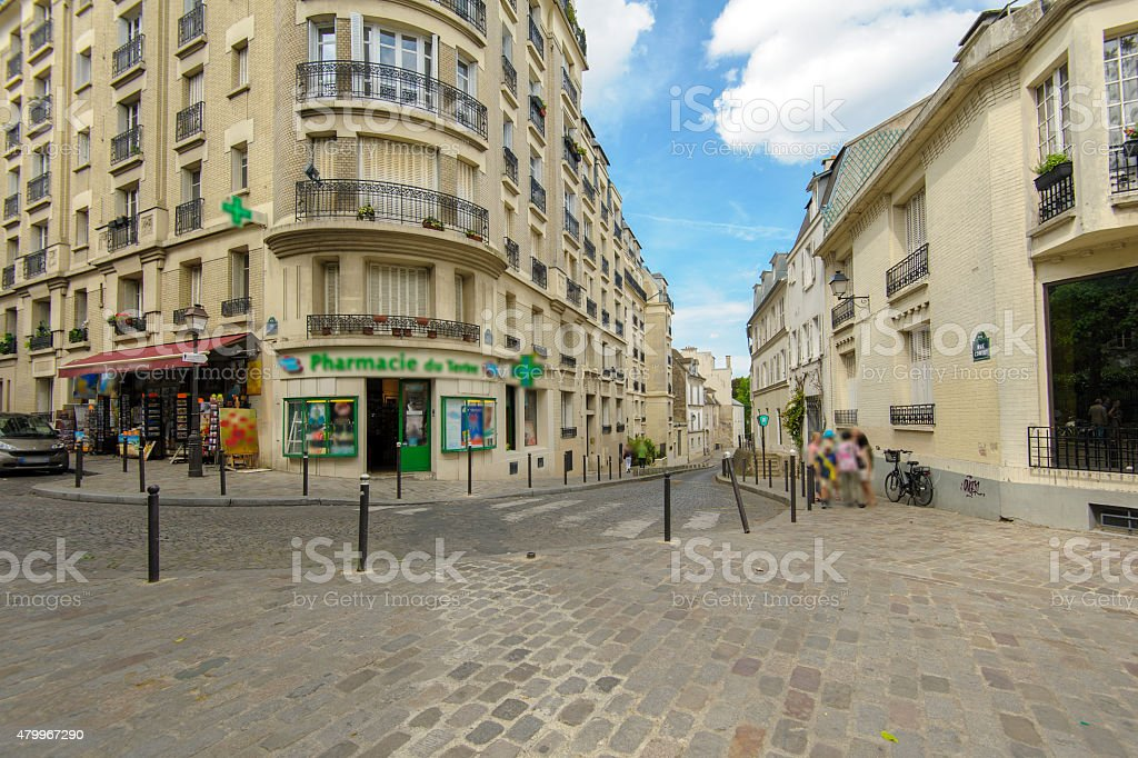 street view of Montmartre stock photo