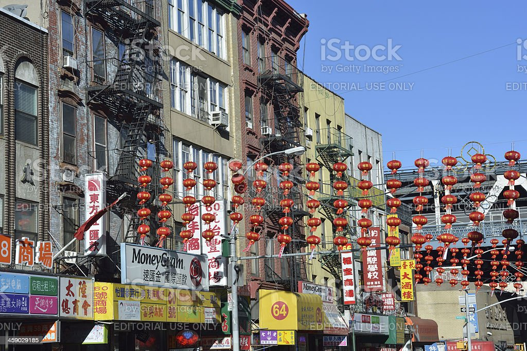 Street View of New York Chinatown royalty-free stock photo