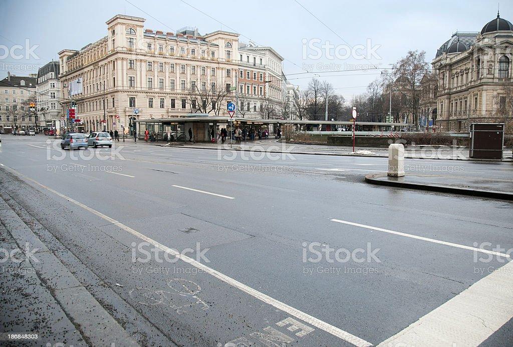 Street view of Vienna, Austria royalty-free stock photo
