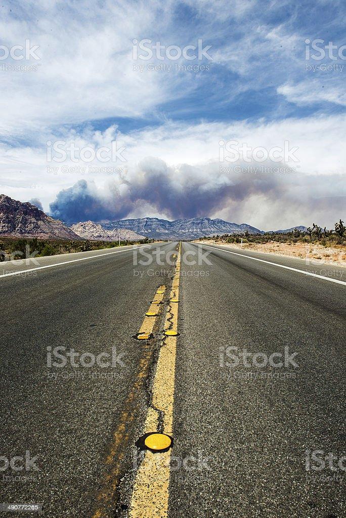 Street View to Mountain Side stock photo