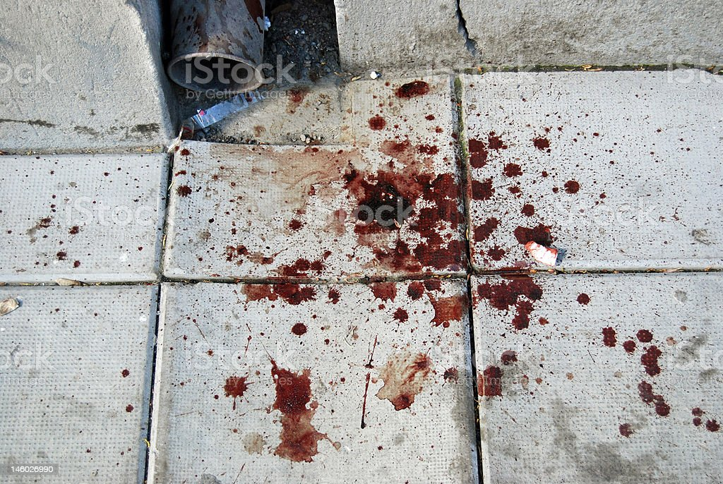 Street violence stock photo