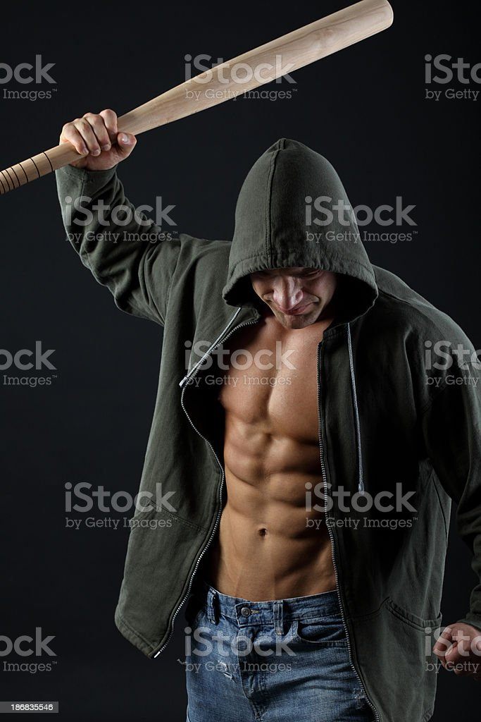 Street violence royalty-free stock photo