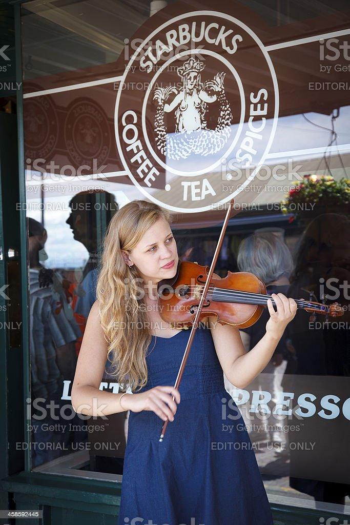Street Violinist royalty-free stock photo