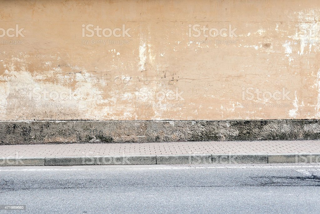 Street wall background stock photo