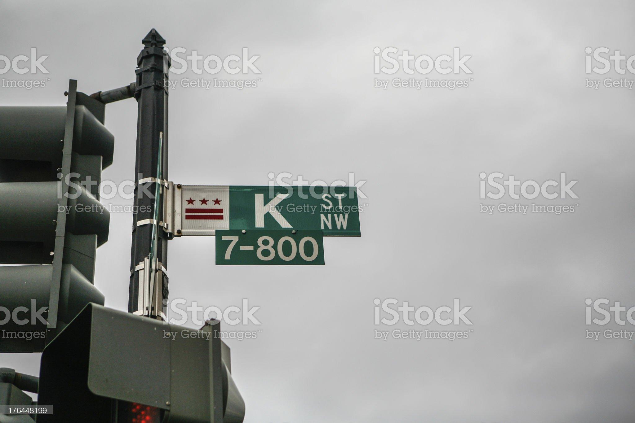 K Street Washington D.C. royalty-free stock photo