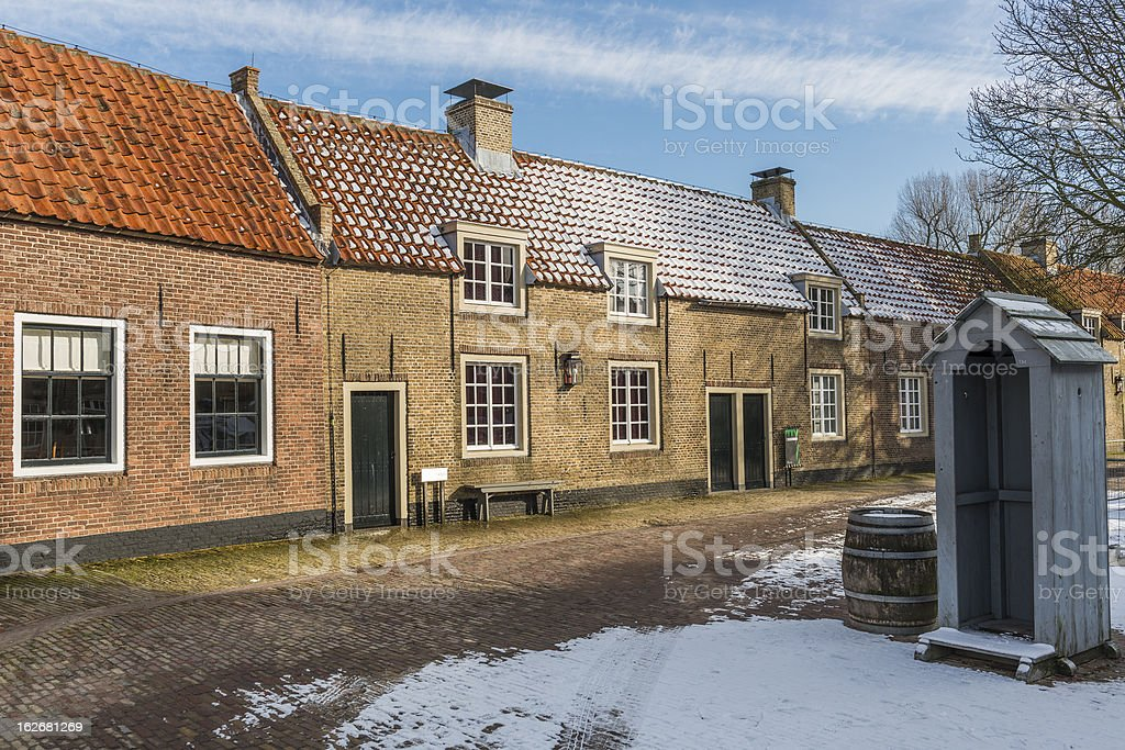 Street with old houses royalty-free stock photo