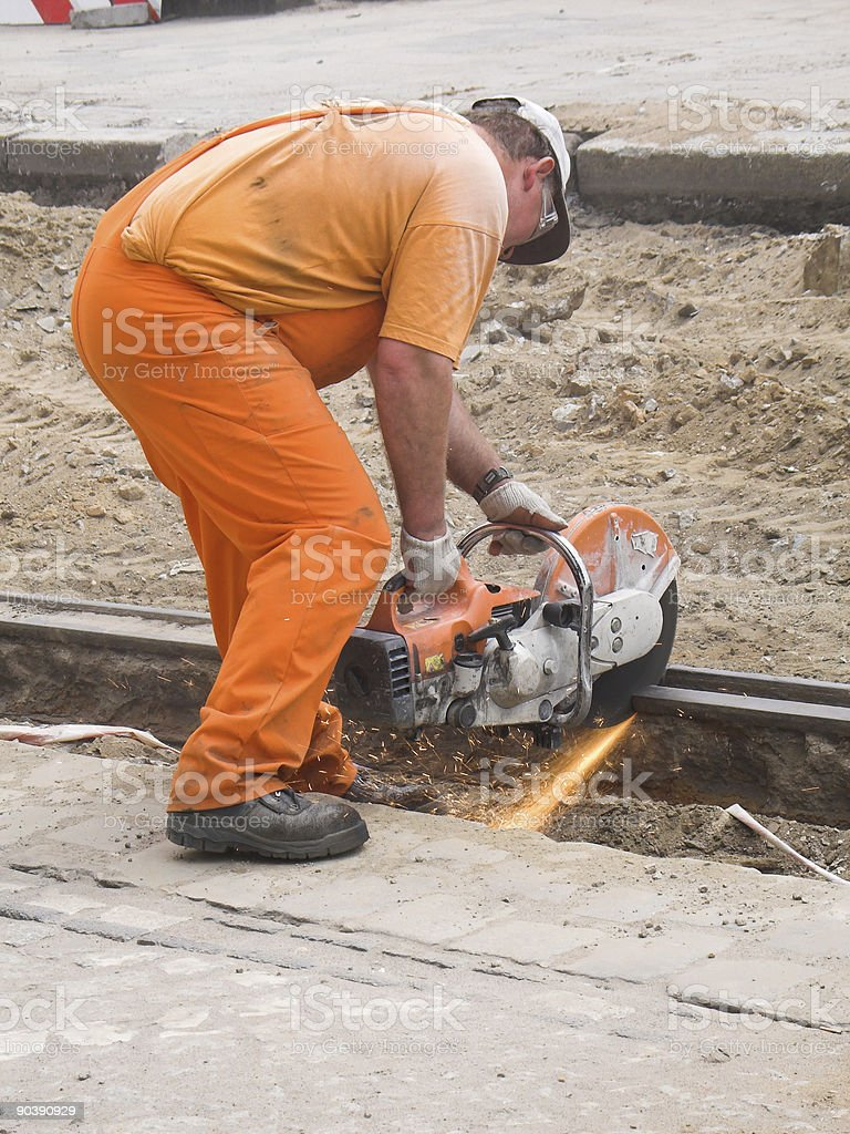 Street worker royalty-free stock photo