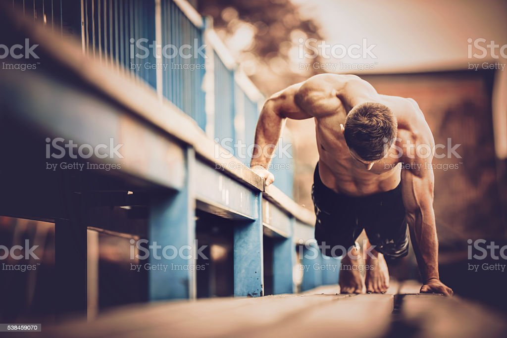 Street workout stock photo