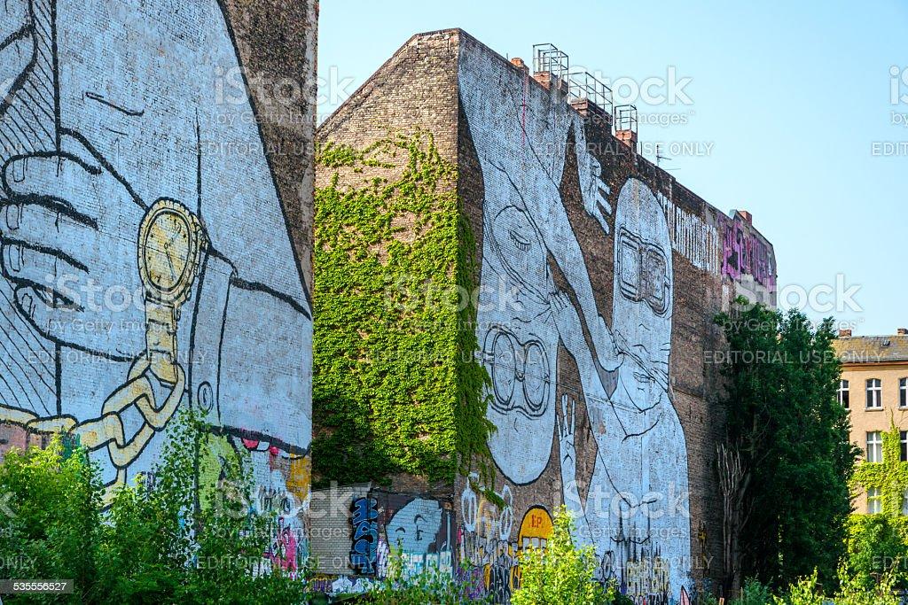 Streetart in Berlin stock photo